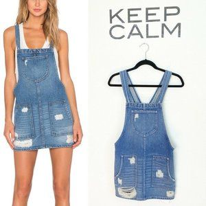 Tularosa Sophia Denim Overall Dress Blue Santiago